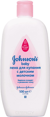 Johnsons Baby Пена для купания с детским Молочком, 500 мл