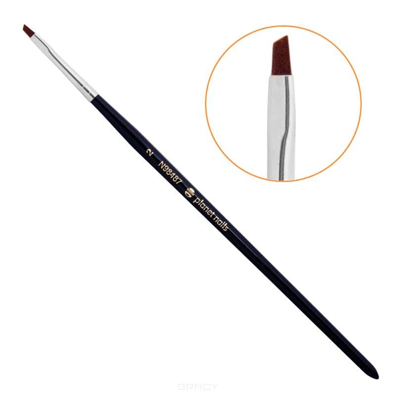 Planet Nails Кисть для китайской росписи скошенная, 1 шт, №3 кисть для китайской росписи из синтетического волоса скошенная