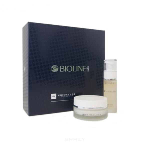 Bioline Подарочный набор бьюти-кейс Primaluce Exforadiance для обновления кожи лица, шеи и декольте с AHA кислотами, 50/30 мл крем bioline jato cream supernourishing 50 мл