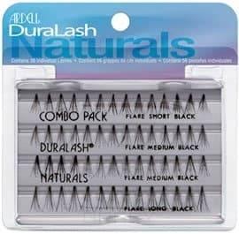 Ardell Duralash Naturals Knot-Free Flairs Combo Pack Black Пучки ресниц безузелковые комбинированные, чёрные