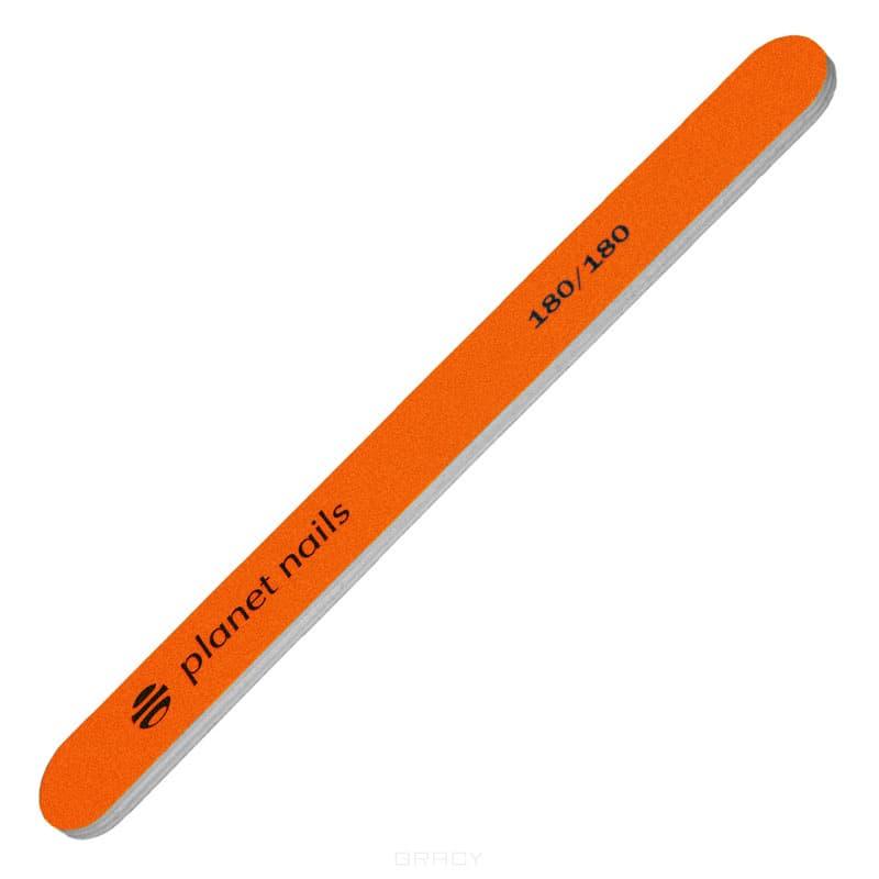 Planet Nails Пилка для ногтей стандартная неоново-оранжевая 180/