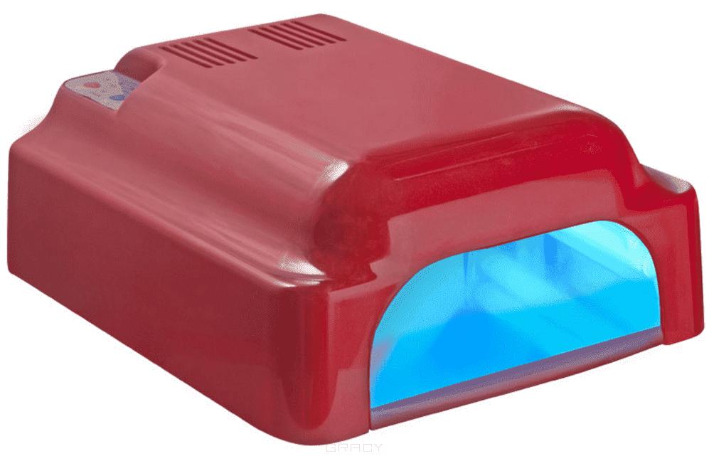 Planet Nails УФ лампа 36W ASN Profi с вентилятором красная, УФ лампа 36W ASN Profi с вентилятором красная, 1 шт велотренажер sport elite se 1311