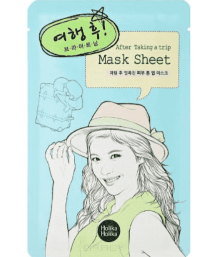 Holika Holika Маска тканевая для лица После поездки After Mask Sheet-After Trip, 16 мл маска holika holika aloe 99% soothing gel jelly mask sheet