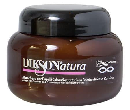 Dikson Маска с ягодами красного шиповника для окрашенных волос Natura Mask per capelli color with Rose Hips, 250 мл