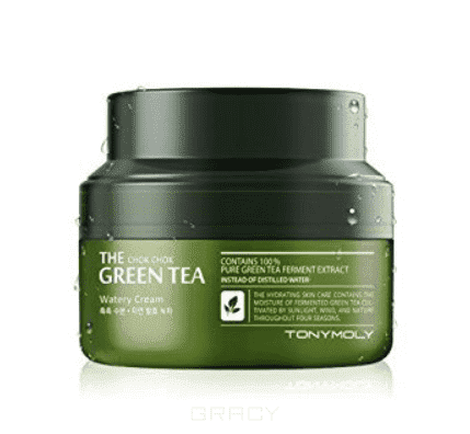 Tony Moly Крем с экстрактом зеленого чая The Chok Chok Green Tea Watery Cream, 60 мл тоник tony moly the chok chok green tea watery skin toner 180 мл