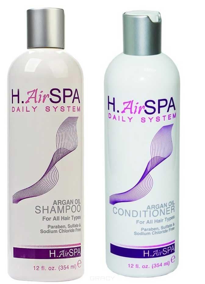 H.AirSPA Набор для волос Шампунь и кондиционер на масле арганы Argan Oil, 355/355 мл