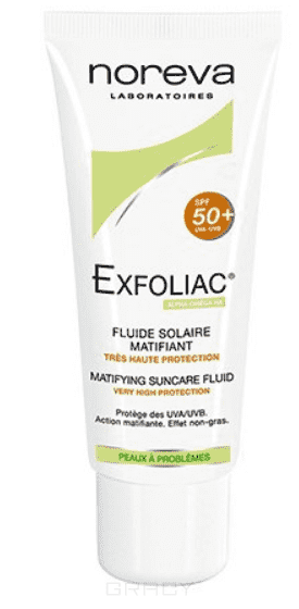 Noreva Матирующая солнцезащитная эмульсия SPF50+ Exfoliac, 40 мл