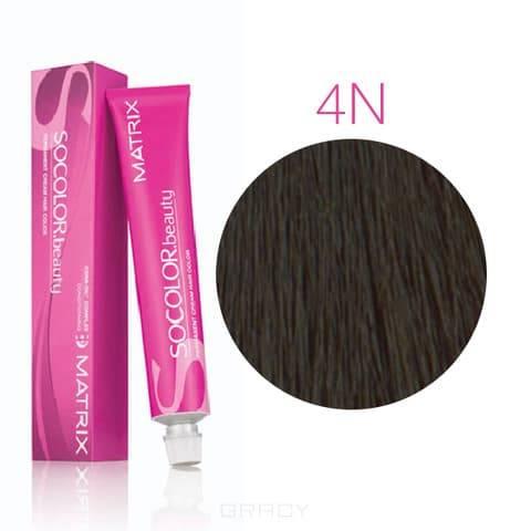 Matrix, Крем-краска для волос SoColor.Beauty, 90 мл (117 оттенков) SOCOLOR.beauty 4N шатен