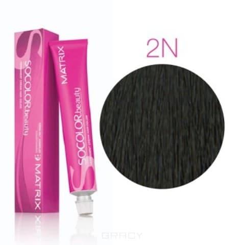 Matrix, Крем-краска для волос SoColor.Beauty, 90 мл (117 оттенков) SOCOLOR.beauty 2N черный
