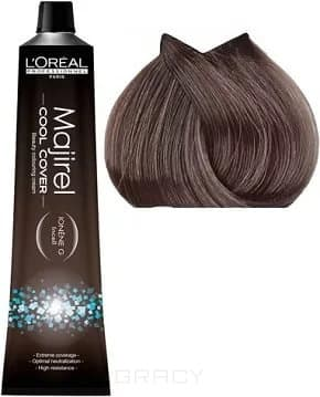 LOreal Professionnel, Краска для волос Majirel Cool Cover, 50 мл (33 оттенка) 7.18 блондин пепельный мокка