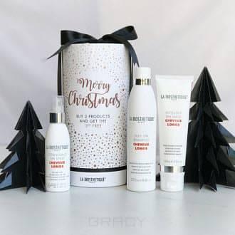 La Biosthetique Набор для волос новогодний Cheveux Longs Set, 100/250/150 мл la biosthetique heat protector спрей для защиты волос от термовоздействия 100 мл