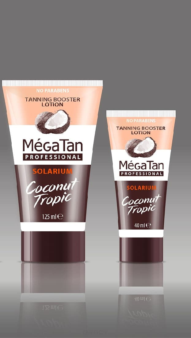 MegaTan Лосьон для загара Coconut Tropic Tanning booster lotion, 40 мл лосьон для лица