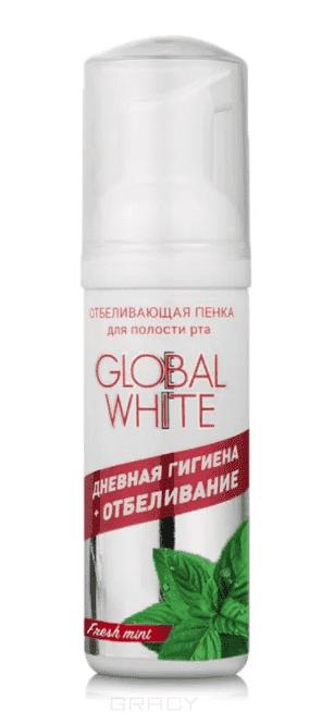Global White Пенка отбеливающая для полости рта Свежая мята 50 мл