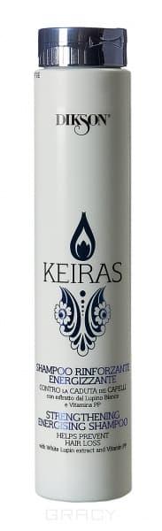 Dikson Укрепляющий шампунь против выпадения волос Keiras Shampoo Rinforzante Energizzante, 250 мл dikson укрепляющий шампунь с гидрализованными протеинами риса для нормальных волос 1000 мл