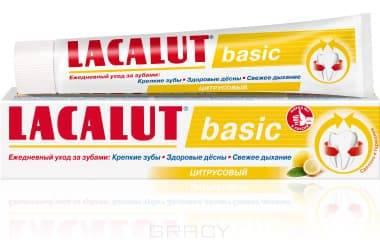 Lacalut Зубная паста Basic цитрусовый, 75 мл, Зубная паста Basic цитрусовый, 75 мл, 75 мл паста зуб lacalut хербал 75мл гель