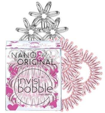 Invisibobble, Резинка для волос розовое золото/прозрачный NanoOriginal Bee Mine (6 шт)