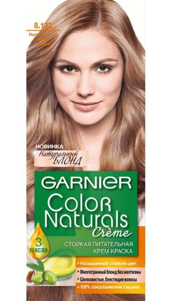 Garnier, Краска для волос Color Naturals (30 оттенков), 110 мл 8.132 Натуральный светло-русый