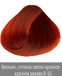 Nirvel, Краска для волос ArtX (95 оттенков), 60 мл 8-55 Интенсивно-красное дерево блондин