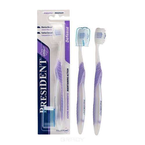 President Зубная щетка Defense president зубная щётка средняя president defense 31033 1 шт