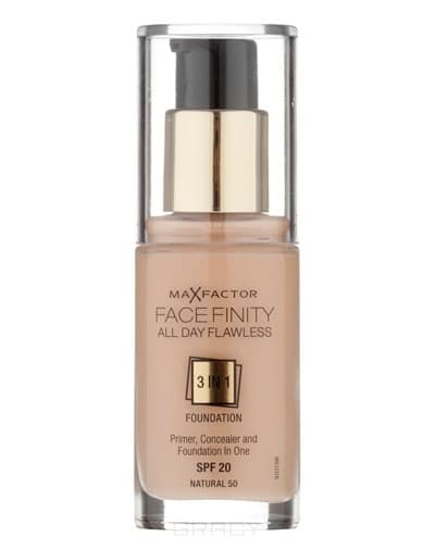 Max Factor Тональная основа Facefinity All Day Flawless 3-in-1 (8 оттенков), 30 мл, 47 Тude, 30 мл max factor facefinity all day flawless цвет 47 nude вес 50 00