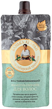 Рецепты бабушки Агафьи Шампунь-питание для волос Восстанавливающий Банька Агафьи, 100 мл