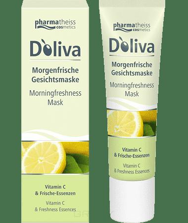 Doliva Утренняя освежающая маска для лица с витамином С и оливковым маслом, 30 мл