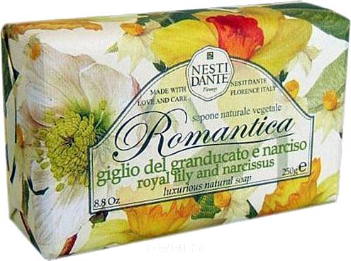 Nesti Dante Мыло Романтика королевская лилия и нарцисс Lily And Narcissus, 250 гр. nesti dante мыло horto botanico огурец 250 г
