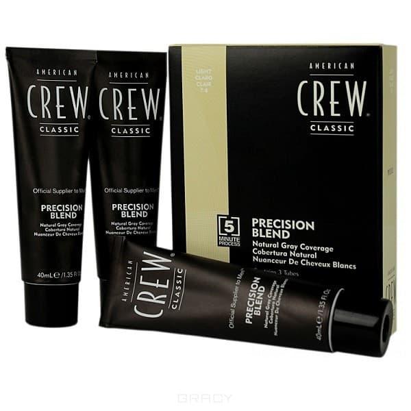 American Crew Краска для седых волос Precision Blend, 3х40 мл (4 оттенка), 3х40 мл, Ср.натуральный 4/5 american crew краска для седых волос precision blend ср натуральный 4 5 3x40 мл