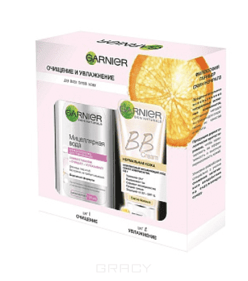 Garnier Набор Мицеллярная вода + BB крем Skin Naturals БОМ, 125 + 50 мл garnier крем bb skin naturals чистая кожа актив 50 мл крем bb skin naturals чистая кожа актив 50 мл 50 мл натурально бежевый