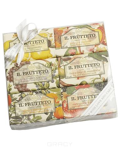 Nesti Dante Набор мыла Фруктовая коллекция, 6*150 гр масла grosheff массажная плитка виноградная косточка и лимон 150 гр