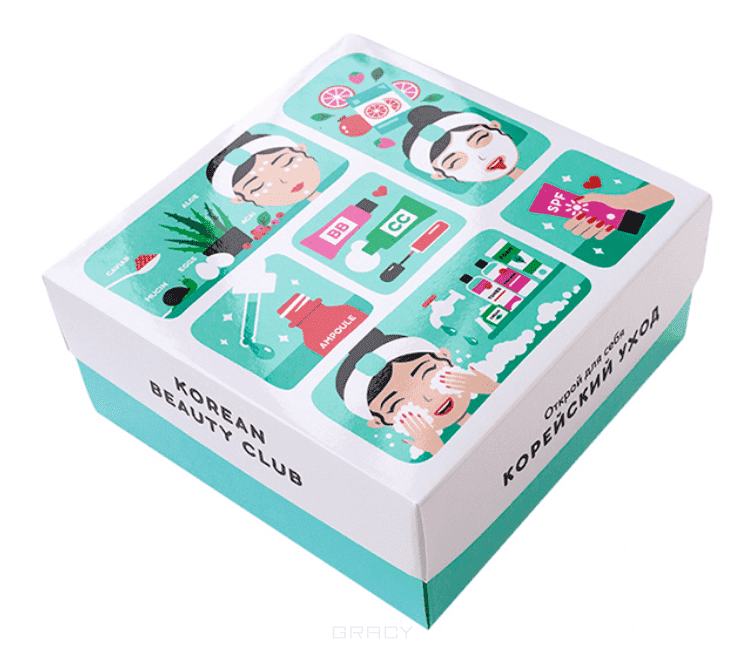It's Skin Коробка малая Корейский уход (с продуктами) Korean care box set (S) beauty device ice skin cool derma roller massager for face body massage facial skin care preventing wrinkle dermo roller