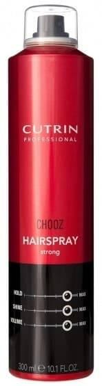 Cutrin Лак сильной фиксации Hair Spray Strong, 300 мл cutrin chooz hair spray max control formula лак экстра сильной фиксации 300 мл