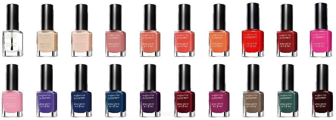 цены Max Factor Лак для ногтей Glossfinity, 11 мл (16 оттенков), 110 Красная страсть/Red passion, 1 шт