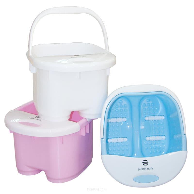 Planet Nails Ванночка педикюрная цветная, 1 шт, Розовая planet nails контейнер пластиковый 1 шт голубой