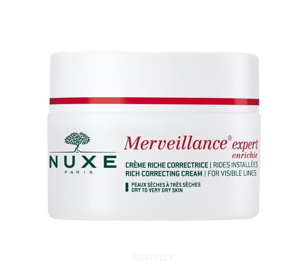 Nuxe Корректирующий обогащенный крем Merveillance Expert, 50 мл, Корректирующий обогащенный крем Merveillance Expert, 50 мл, 50 мл  крем для глаз nuxe merveillance expert yeux объем 15 мл