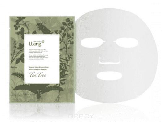 LLang Тканевая маска с экстрактом масла чайного дерева Organic Cotton Blossom Mask (Tea tree), 22 мл