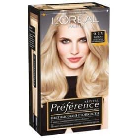 LOreal, Краска для волос Preference (27 оттенков), 270 мл 9.13 Байкал очень-светло-русый бежевый