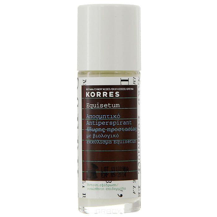 Korres Дезодорант-антиперспирант с экстрактом хвоща Интенсивная защита для чувствительной кожи 48 часов, 30 мл