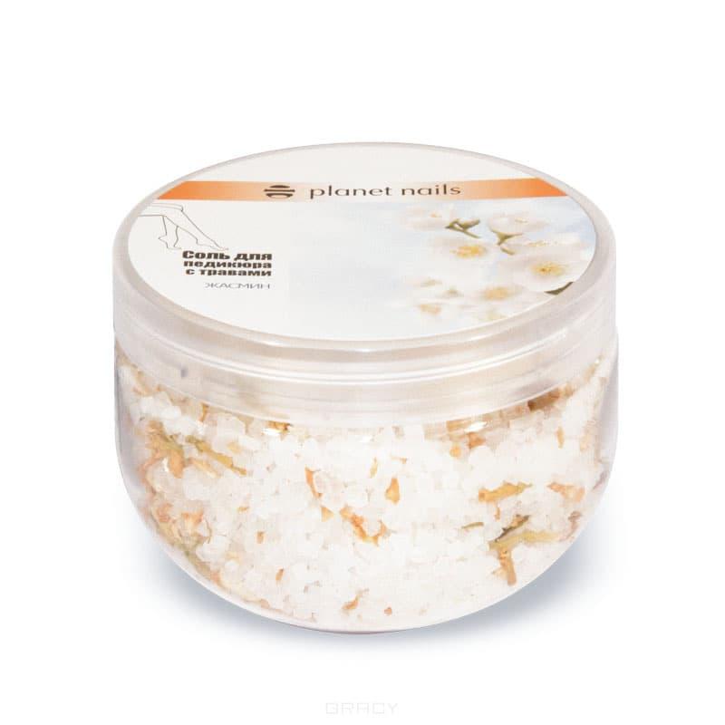 Planet Nails Соль для педикюра с травами Жасмин, 350 г соль для педикюра рассвет 300 гр душистый мир