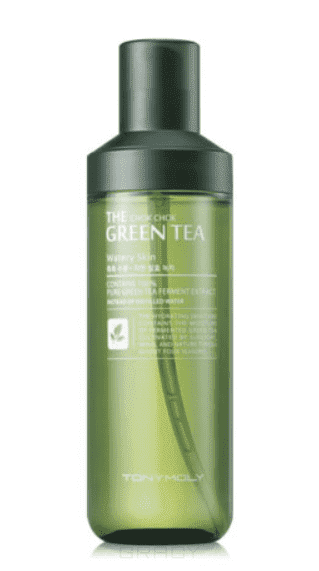 Tony Moly Лосьон с экстрактом зеленого чая  Chok Chok Green Tea Watery Skin, 180 мл гидрофильное масло it s skin green tea calming cleansing oil объем 145 мл