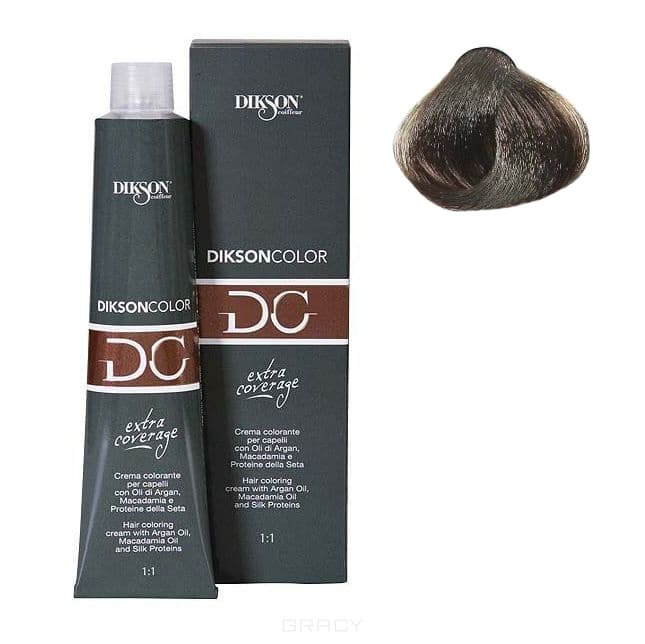 Dikson, Стойкая парфюмированная крем-краска для волос Extra Coverage, 120 мл (8 оттенков) 121-05 5,00 Dikson extra coverage 5N/E светло-каштановый