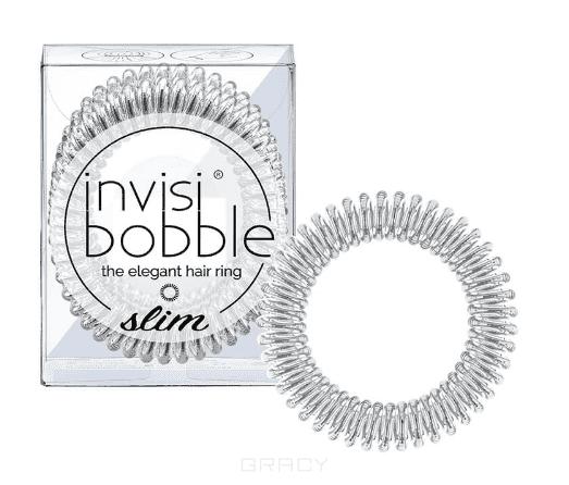 Invisibobble Резинка для волос SLIM Chrome Sweet Chrome серебряный, 3 шт invisibobble резинка для волос серебрянного цвета original time to shine chrome sweet chrome 3 шт