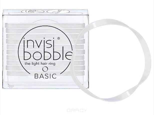 Invisibobble Резинка для волос BASIC Crystal Clear прозрачный, 10 шт резинка для волос invisibobble slim crystal clear 3 штуки