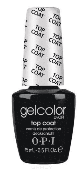 OPI Верхнее покрытие GelColor Top Coat, 15 мл opi гель лак gelcolor тон no more mr night sky 15 мл