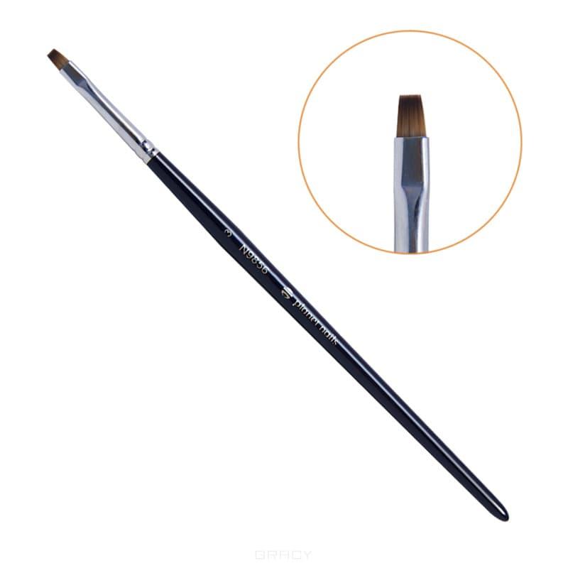 Planet Nails Кисть для китайской росписи квадратная мягкая № 3 кисть для китайской росписи из синтетического волоса скошенная