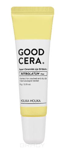 Holika Holika Бальзам-масло для губ Гуд Кера Супер Керамид Good Cera Super Ceramide Lip Oil Balm, 10 г holika holika универсальный бальзам с керамидами гуд кера супер интенсивно увлажняющий good cera super ceramide moisture balm 1 мл