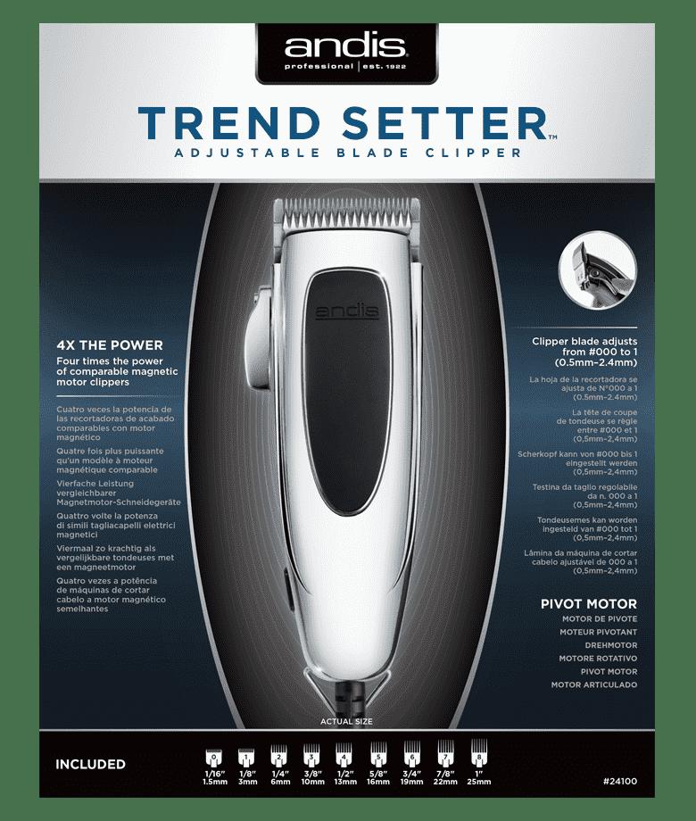 Andis Машинка для стрижки волос Andis Trendsetter 0,5-2.4мм, сетевая, пивот,15W,9 нас. 24100 PM-4 машинка для стрижки волос andis mvp smc 63225