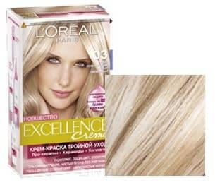 LOreal, Краска для волос Excellence Creme (32 оттенка), 270 мл 03 Супер осветляющий русый пепельный