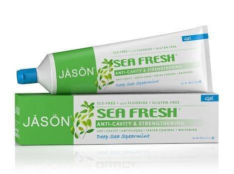 цены  Jason Гелевая зубная паста Морская свежесть Sea Fresh Gel Paste, 170 мл, Гелевая зубная паста Морская свежесть Sea Fresh Gel Paste, 170 мл, 170 мл