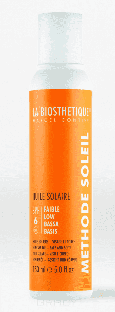 La Biosthetique Водостойкое солнцезащитное масло с SPF 6 для базовой защиты Methode Soleil Huile Solaire SPF 6, 200 мл labiosthetique creme solaire multi protection spf 50